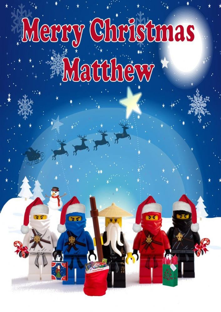 Personalised Ninjago Christmas Card